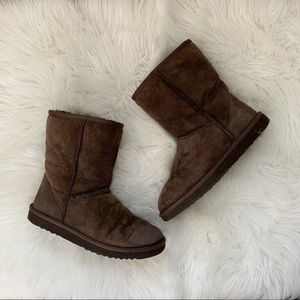 Ugg Classic Short Chocolate Brown Sheepskin Boots